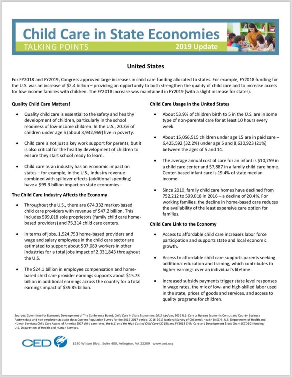 Child Care Impact | Committee for Economic Development of