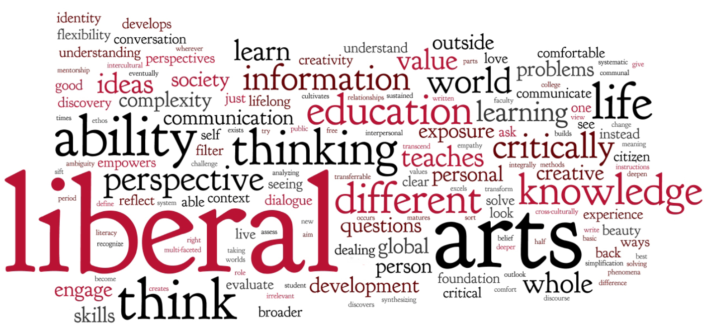 Words that relate to liberal arts.